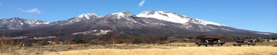 御代田町から望む浅間山